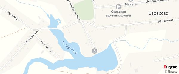 Улица Шаймуратова на карте села Сафарово с номерами домов