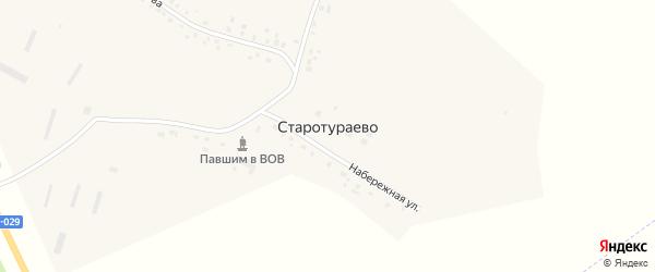 Лесная улица на карте деревни Старотураево с номерами домов