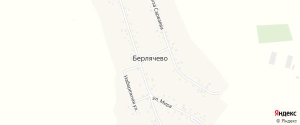 Нагорная улица на карте деревни Берлячево с номерами домов