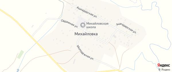 Ашкадарская улица на карте деревни Михайловки с номерами домов
