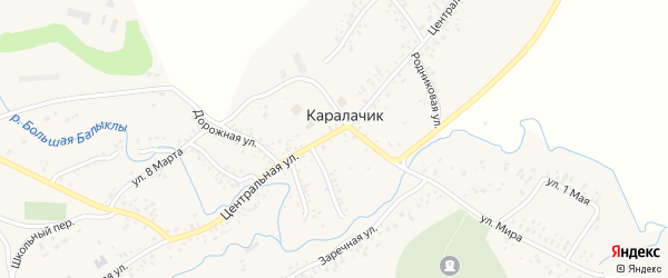 Мельничный переулок на карте села Каралачика с номерами домов
