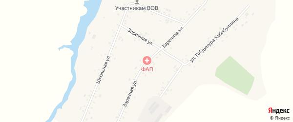 Заречная улица на карте деревни Кулаево с номерами домов