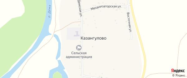 Механизаторская улица на карте села Казангулово с номерами домов
