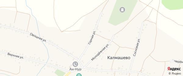 Горная улица на карте села Калмашево с номерами домов