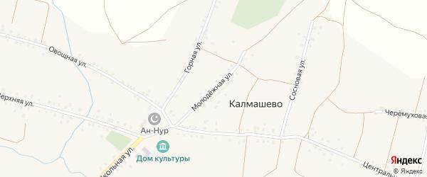 Молодежная улица на карте села Калмашево с номерами домов