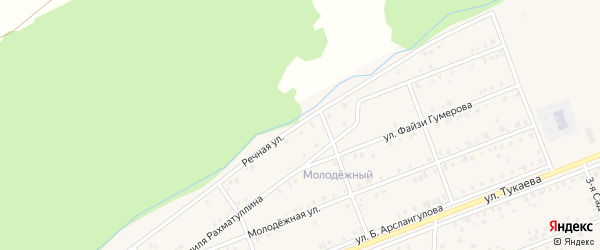 Речная улица на карте села Стерлибашево с номерами домов