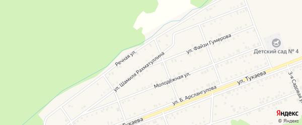 Улица Шамиля Рахматуллина на карте села Стерлибашево с номерами домов