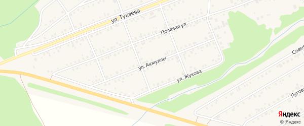 Улица Акмуллы на карте села Стерлибашево с номерами домов