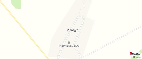 Улица Салавата Юлаева на карте деревни Ильдуса с номерами домов