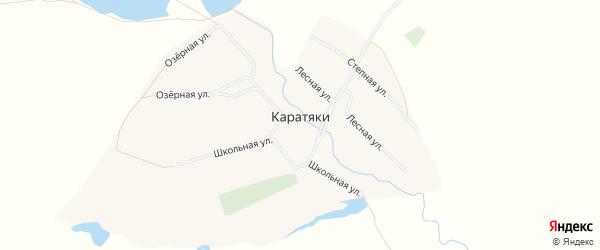 Карта села Каратяков в Башкортостане с улицами и номерами домов