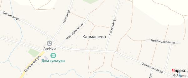Овощная улица на карте села Калмашево с номерами домов