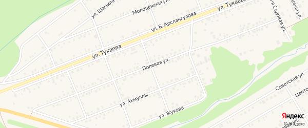 Полевая улица на карте села Стерлибашево с номерами домов