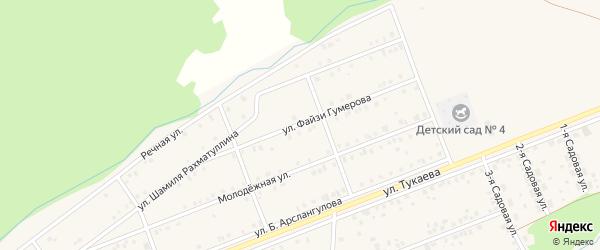Улица Файзи Гумерова на карте села Стерлибашево с номерами домов