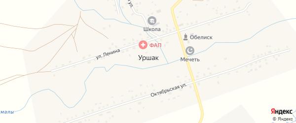 Советская улица на карте села Уршака с номерами домов