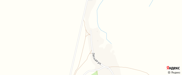 Лесная улица на карте деревни Банковки с номерами домов