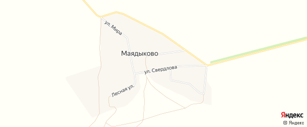 Карта села Маядыково в Башкортостане с улицами и номерами домов