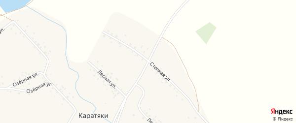 Степная улица на карте села Каратяков с номерами домов