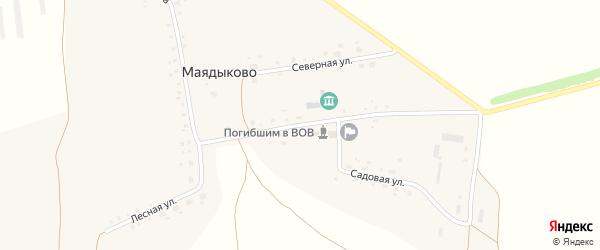 Улица Свердлова на карте села Маядыково с номерами домов