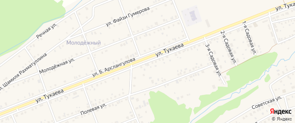 Улица Тукаева на карте села Стерлибашево с номерами домов