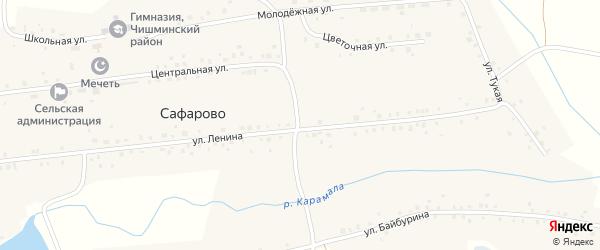 Улица Ленина на карте села Сафарово с номерами домов