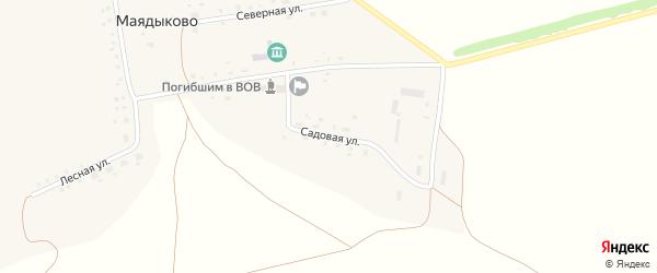 Садовая улица на карте села Маядыково с номерами домов
