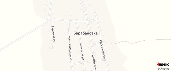 Школьная улица на карте села Барабановки с номерами домов