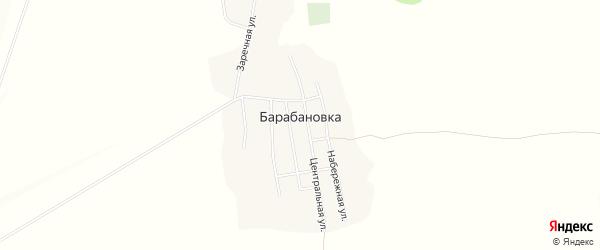 Карта села Барабановки в Башкортостане с улицами и номерами домов