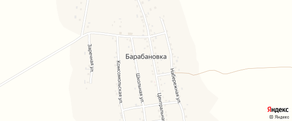 Комсомольская улица на карте села Барабановки с номерами домов