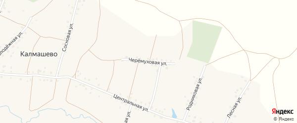 Черемуховая улица на карте села Калмашево с номерами домов