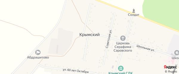 Садовая улица на карте села Крымского с номерами домов