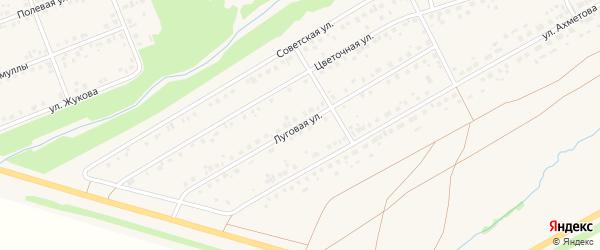 Луговая улица на карте села Стерлибашево с номерами домов