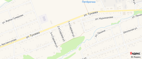 Садовая улица на карте села Стерлибашево с номерами домов