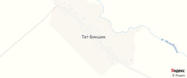 Центральная улица на карте деревни Тата-Бикшика с номерами домов