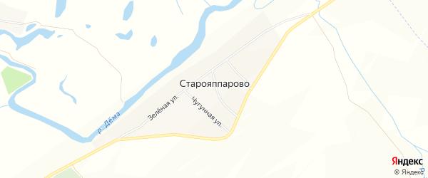 Карта села Старояппарово в Башкортостане с улицами и номерами домов