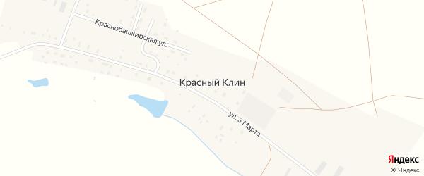 Краснобашкирская улица на карте деревни Красного Клина с номерами домов