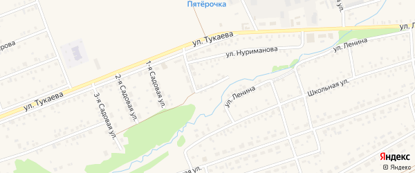 Улица Строителей на карте села Стерлибашево с номерами домов