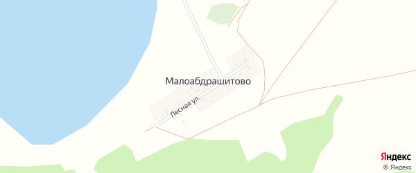 Лесная улица на карте деревни Малоабдрашитово с номерами домов