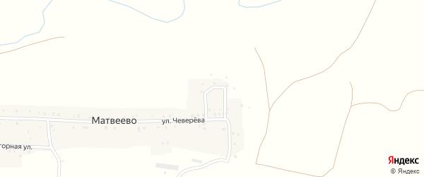 Дачная улица на карте села Матвеево с номерами домов
