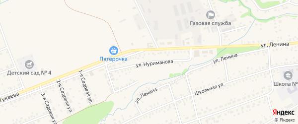 Улица Нуриманова на карте села Стерлибашево с номерами домов