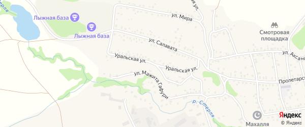 Уральская улица на карте села Стерлибашево с номерами домов