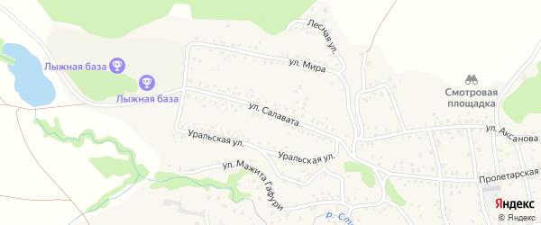Улица Салавата на карте села Стерлибашево с номерами домов