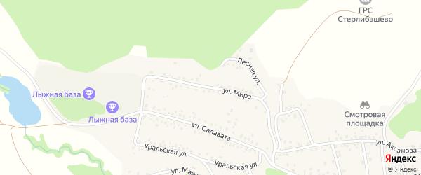 Улица Мира на карте села Стерлибашево с номерами домов