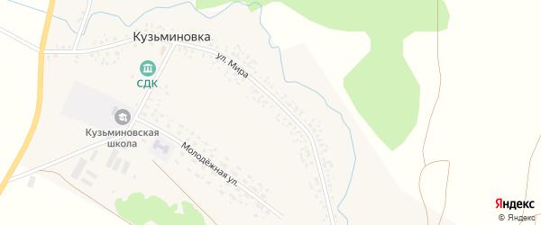 Горная улица на карте села Кузьминовки с номерами домов