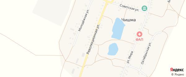 Революционная улица на карте села Чишмы с номерами домов