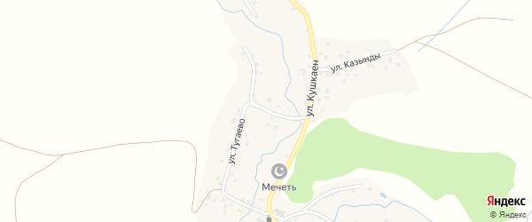 Улица Тугаево на карте села Халикеево с номерами домов
