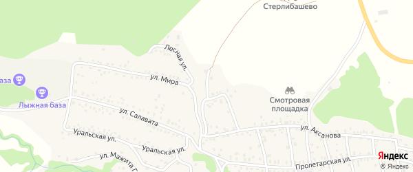 Улица Чкалова на карте села Стерлибашево с номерами домов