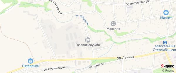 Комсомольская улица на карте села Стерлибашево с номерами домов