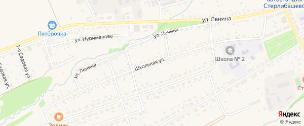 Школьная улица на карте села Стерлибашево с номерами домов