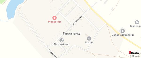 Улица Гагарина на карте села Тавричанки с номерами домов