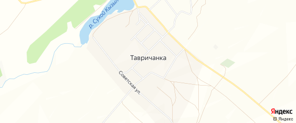 Карта села Тавричанки в Башкортостане с улицами и номерами домов